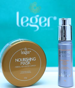 embalagem de cremes da leger para cuidados com a pele após tratamento com laser co2 fracionado