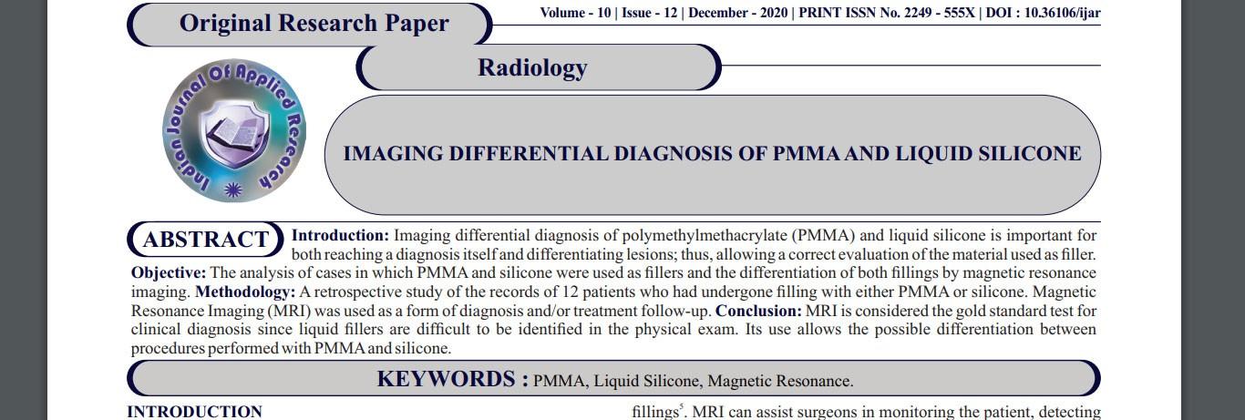 Leger publica artigo sobre diferenciação de PMMA e silicone líquido por imagem